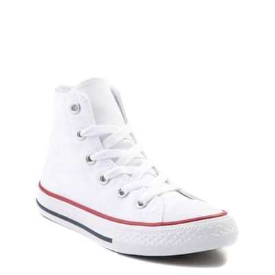 junior white converse high tops