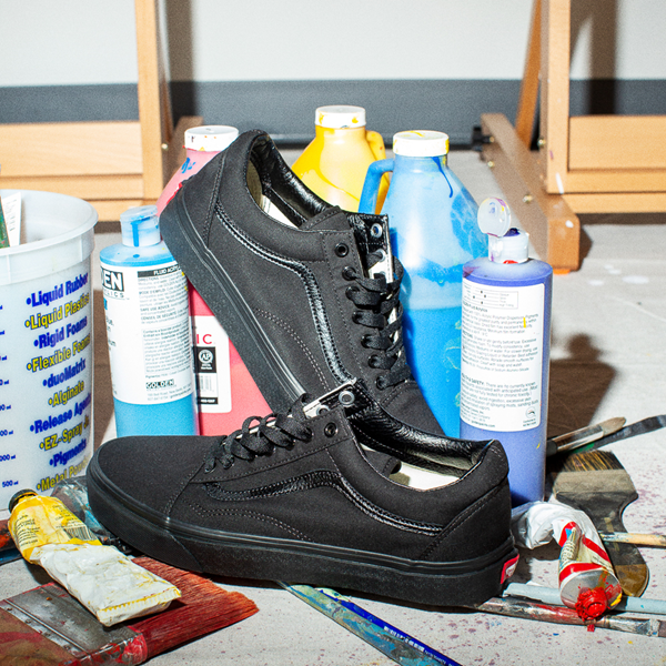 alternate view Vans Old Skool Skate Shoe - Black MonochromeALT1B