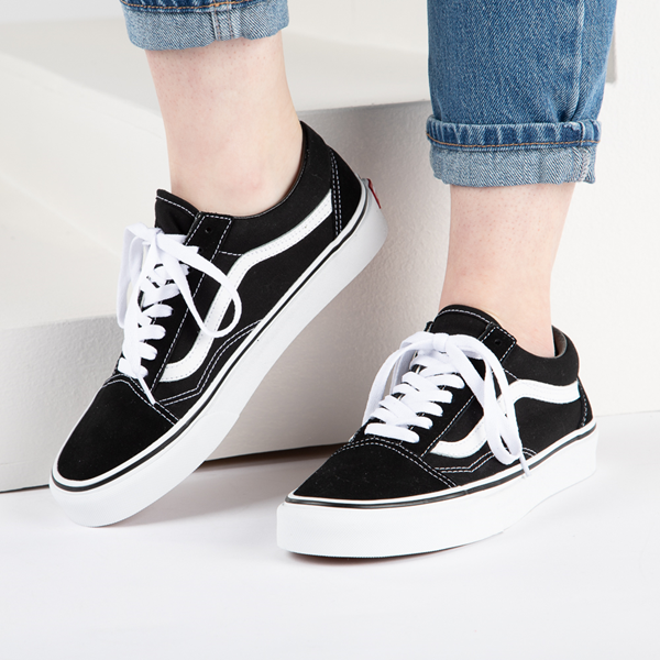 alternate view Vans Old Skool Skate Shoe - Black / WhiteB-LIFESTYLE1