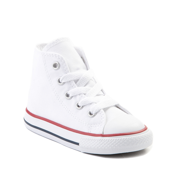 alternate view Converse Chuck Taylor All Star Hi Sneaker - Baby / Toddler - WhiteALT5