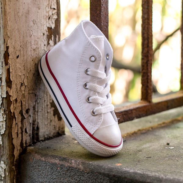 alternate view Converse Chuck Taylor All Star Hi Sneaker - Baby / Toddler - WhiteALT1C