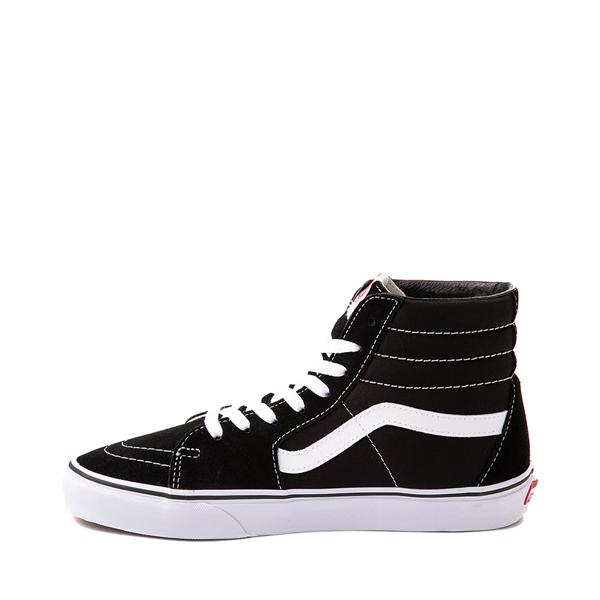 alternate view Vans Sk8 Hi Skate Shoe - Black / WhiteALT1