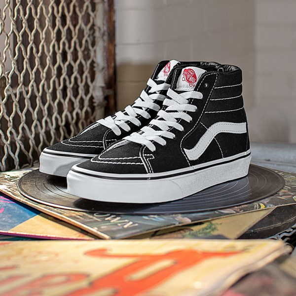 alternate view Vans Sk8 Hi Skate Shoe - BlackC-HERO1