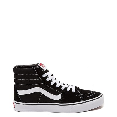 Main view of Black Vans Sk8 Hi Skate Shoe