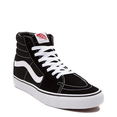 Alternate view of Black Vans Sk8 Hi Skate Shoe