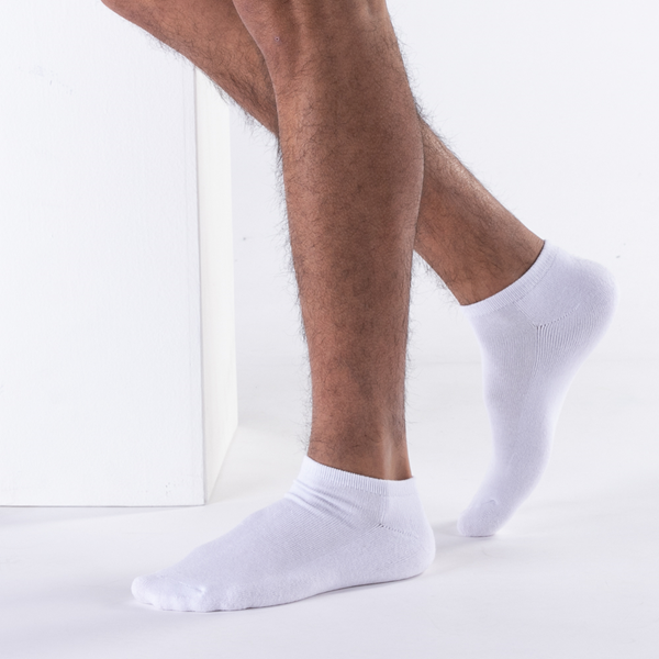 alternate view Mens Footie Socks 5 Pack - WhiteALT1