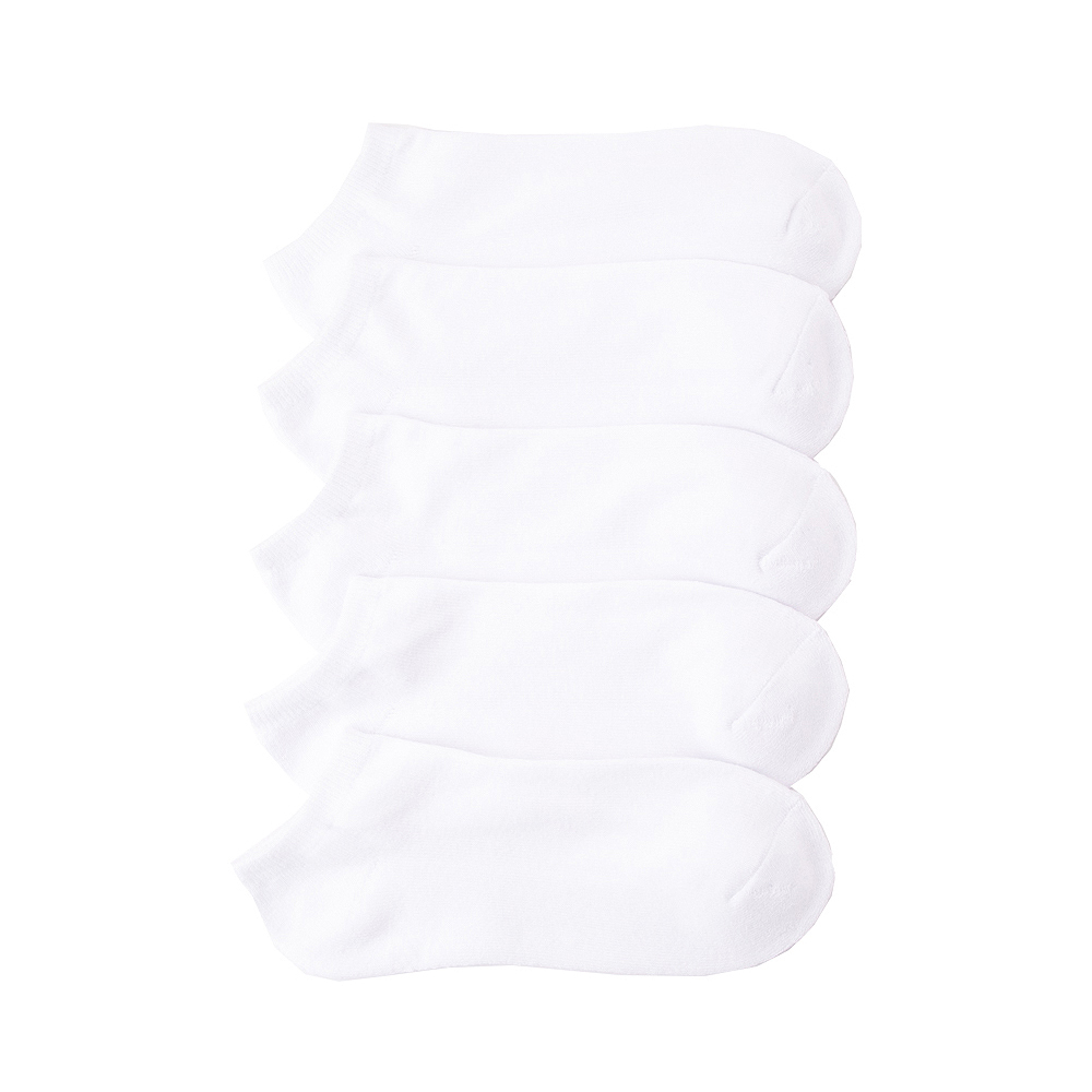 Mens Footie Socks 5 Pack - White