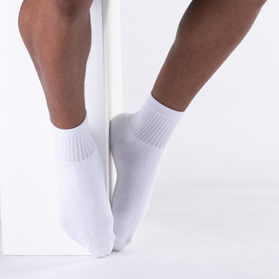 Alternate view of Mens Quarter Socks 5 Pack - White
