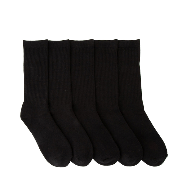 Mens Crew Socks 5 Pack - Black