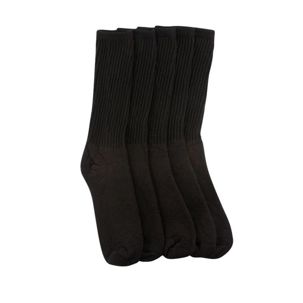 alternate view Mens Crew Socks 5 PackBLACK