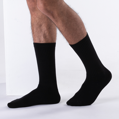 Alternate view of Mens Crew Socks 5 Pack - Black