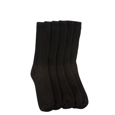 Main view of Mens Crew Socks 5 Pack - Black