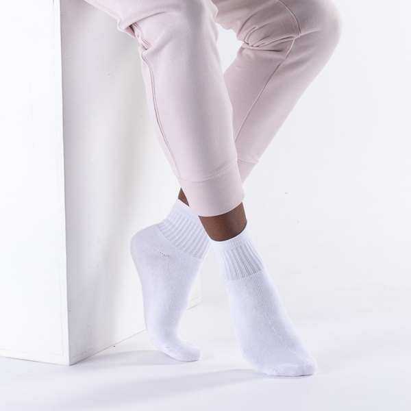 alternate view Womens Quarter Socks 5 Pack - WhiteALT1