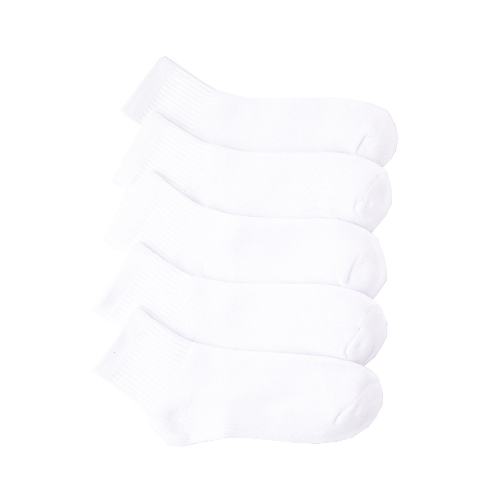 Womens Quarter Socks 5 Pack - White