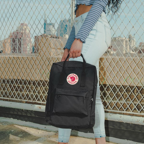 alternate view Fjallraven Kanken Backpack - BlackB-LIFESTYLE1