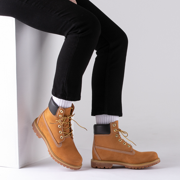 "alternate view Womens Timberland 6"" Premium Boot - WheatB-LIFESTYLE1"