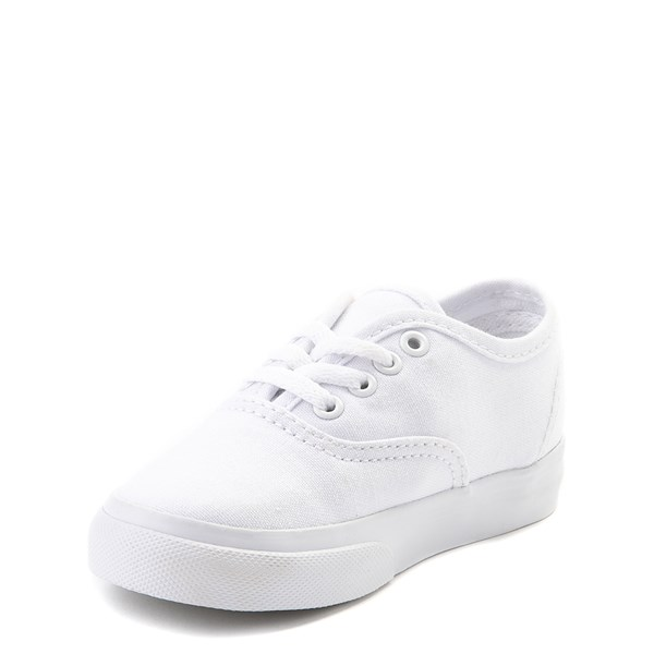 alternate view Vans Authentic Skate Shoe - Baby / Toddler - WhiteALT3