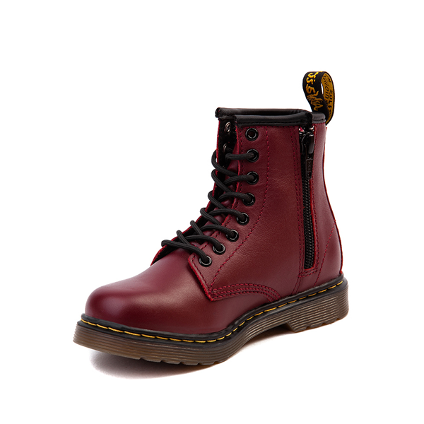 alternate view Dr. Martens 1460 8-Eye Boot - Little Kid / Big Kid - CherryALT2