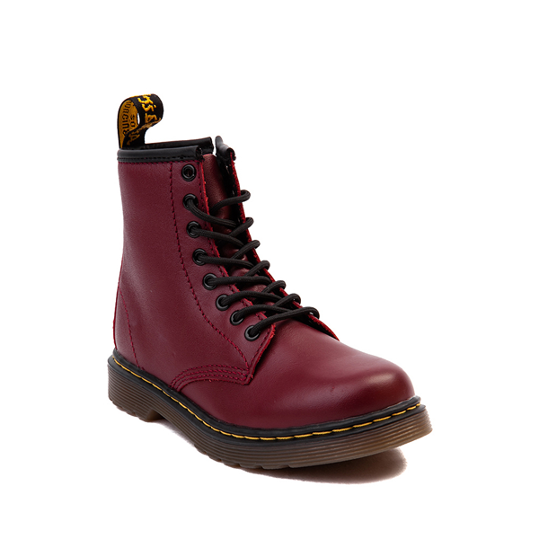 alternate view Dr. Martens 1460 8-Eye Boot - Little Kid / Big Kid - CherryALT5