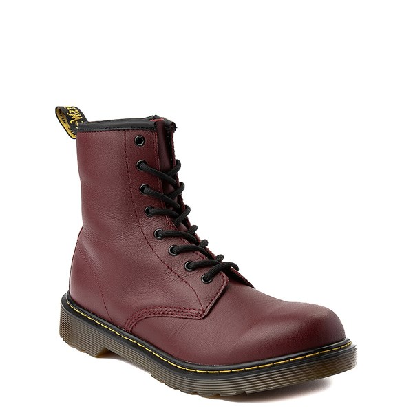 alternate view Dr. Martens 1460 8-Eye Boot - Little Kid / Big Kid - CherryALT1