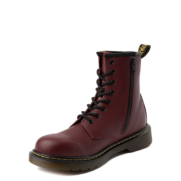 alternate view Dr. Martens 1460 8-Eye Boot - Little Kid / Big Kid - CherryALT3