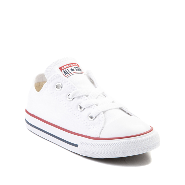 alternate view Converse Chuck Taylor All Star Lo Sneaker - Baby / Toddler - WhiteALT5