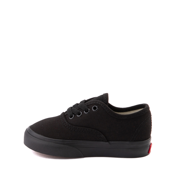 alternate view Vans Authentic Skate Shoe - Baby / Toddler - Black MonochromeALT1