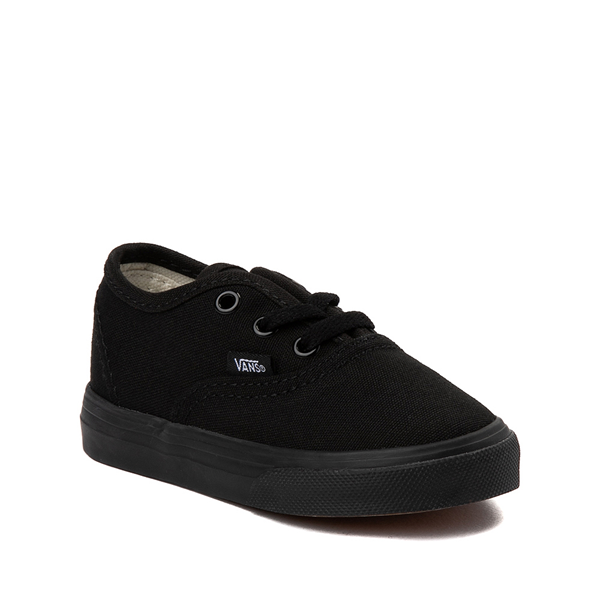 alternate view Vans Authentic Skate Shoe - Baby / Toddler - Black MonochromeALT5