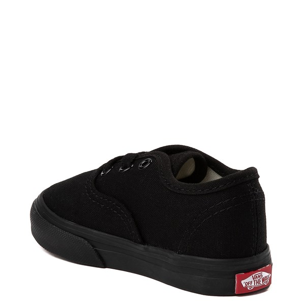 alternate view Vans Authentic Skate Shoe - Baby / Toddler - Black MonochromeALT2
