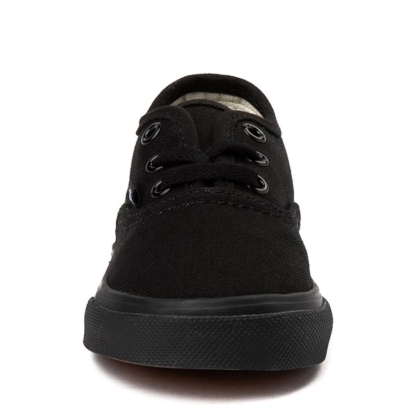 alternate view Vans Authentic Skate Shoe - Baby / Toddler - Black MonochromeALT4