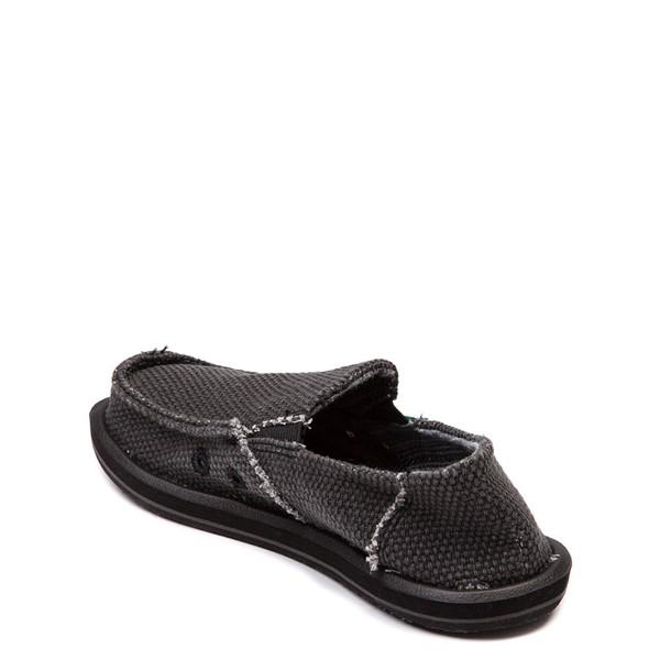 alternate view Sanuk Vagabond Casual Shoe - Little Kid / Big Kid - BlackALT1