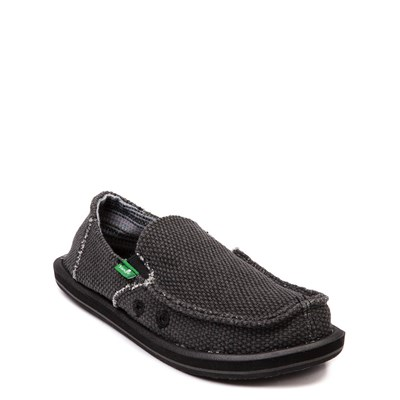 Alternate view of Sanuk Vagabond Casual Shoe - Little Kid / Big Kid - Black