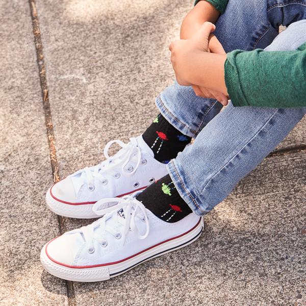 alternate view Converse Chuck Taylor All Star Lo Sneaker - Little Kid - WhiteALT1B