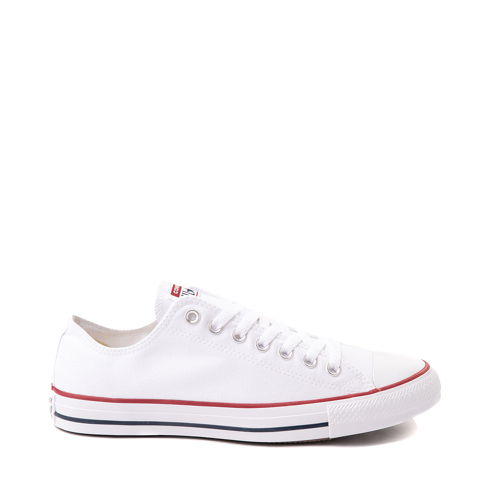 Boys white & red converse chuck taylor all star 2v lo
