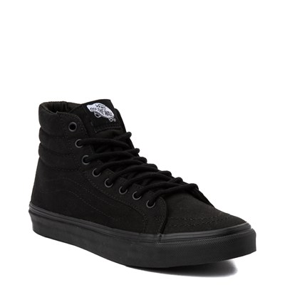 Alternate view of All Black Vans Sk8 Hi Slim Skate Shoe