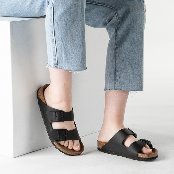 alternate view Womens Birkenstock Arizona Sandal - BlackB-LIFESTYLE1