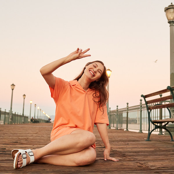 alternate view Womens Birkenstock Arizona Sandal - WhiteALT1B
