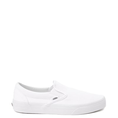 Main view of White Vans Slip On Skate Shoe