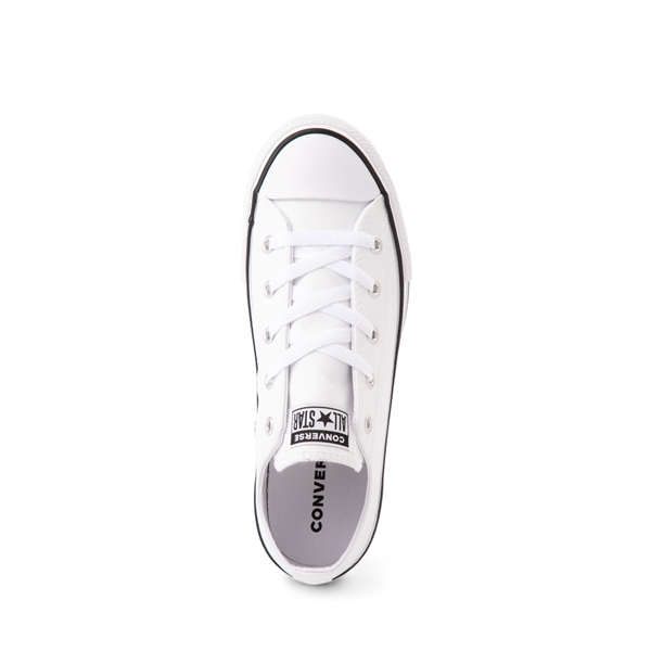 alternate view Converse Chuck Taylor All Star Lo Leather Sneaker - Little Kid - WhiteALT2