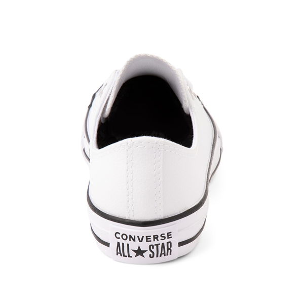 alternate view Converse Chuck Taylor All Star Lo Leather Sneaker - Little Kid - WhiteALT4