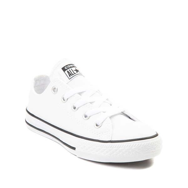 alternate view Converse Chuck Taylor All Star Lo Leather Sneaker - Little Kid - WhiteALT5
