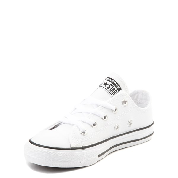 alternate view Converse Chuck Taylor All Star Lo Leather Sneaker - Little Kid - WhiteALT3