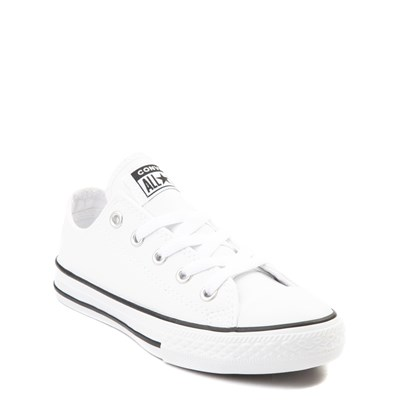 Alternate view of Converse Chuck Taylor All Star Lo Leather Sneaker - Little Kid - White