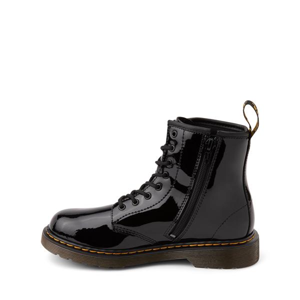 alternate view Dr. Martens 1460 8-Eye Patent Boot - Little Kid - BlackALT1