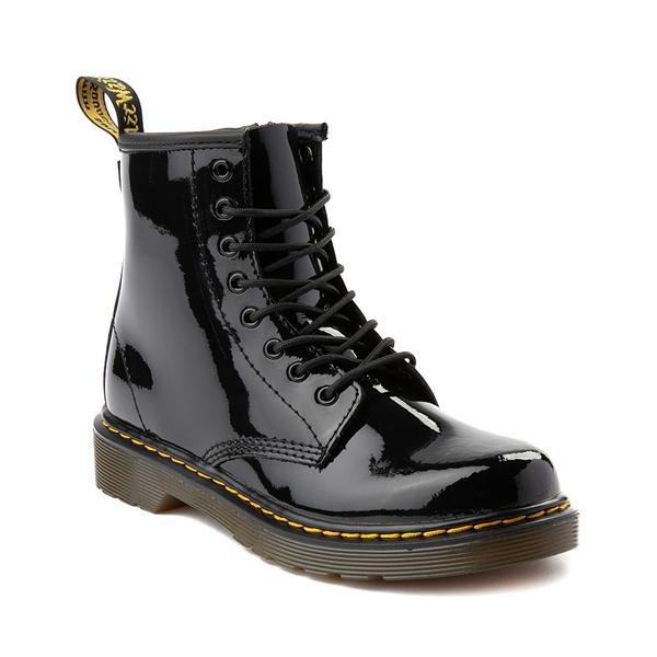 alternate view Dr. Martens 1460 8-Eye Patent Boot - Little Kid - BlackALT5