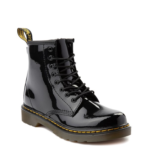 alternate view Dr. Martens 1460 8-Eye Patent Boot - Little Kid - BlackALT1