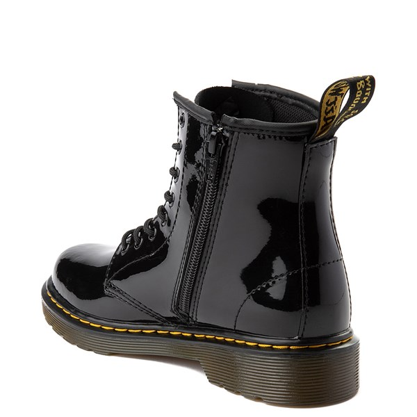 alternate view Dr. Martens 1460 8-Eye Patent Boot - Little Kid - BlackALT2