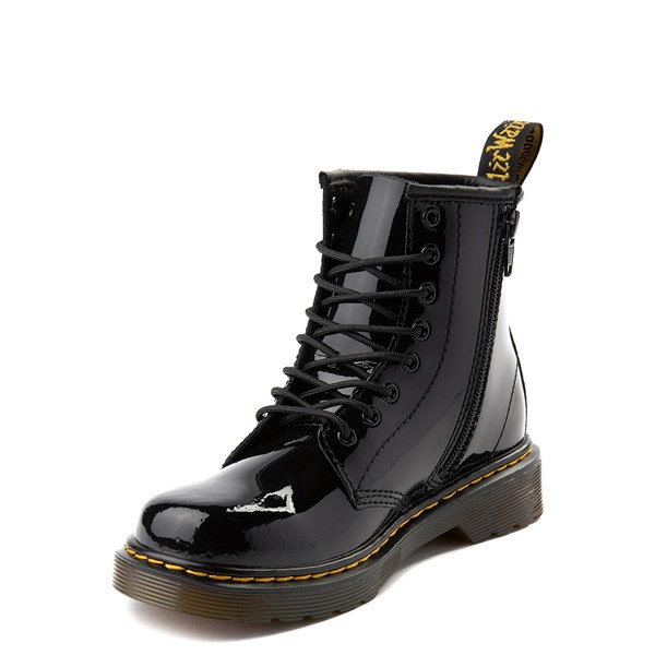 alternate view Dr. Martens 1460 8-Eye Patent Boot - Little Kid - BlackALT3