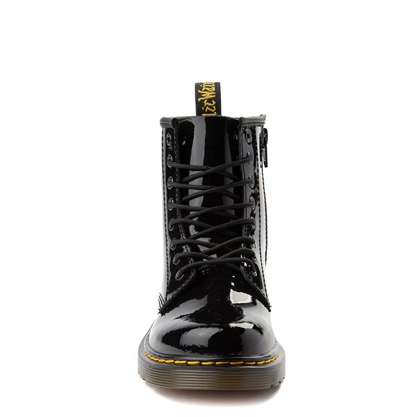 alternate view Dr. Martens 1460 8-Eye Patent Boot - Little Kid - BlackALT4
