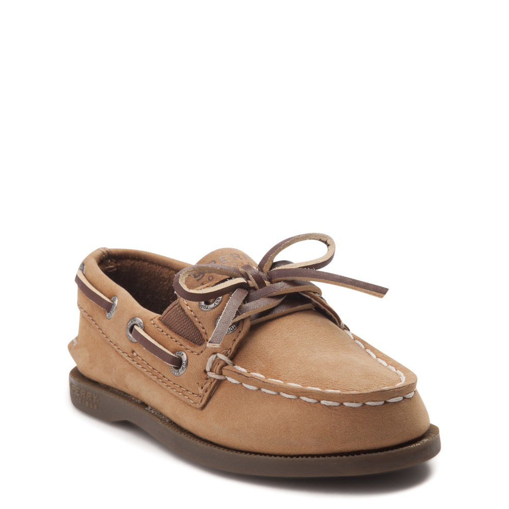 Sperry Top-Sider Boys/' Authentic Original Brown Leather